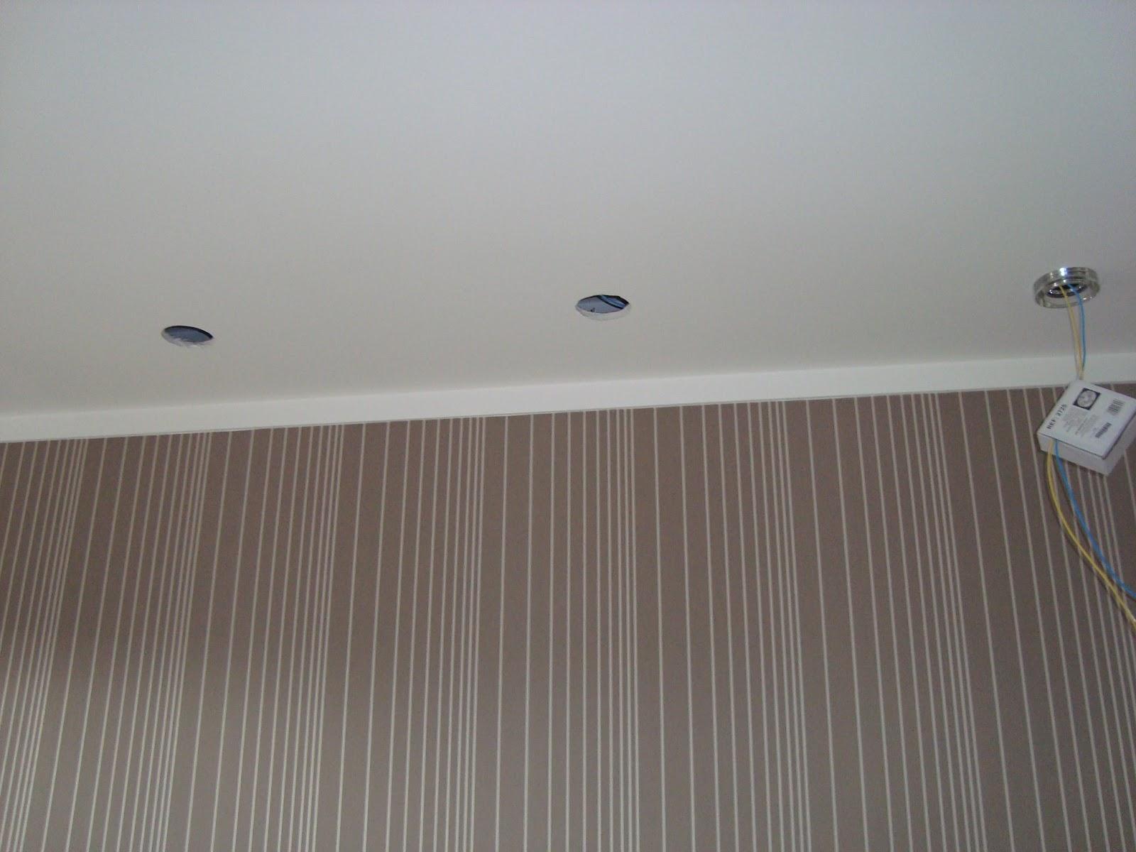 Sup Ria Super Eletricistas Spots Em Gesso -> Spot De Parede Para Sala
