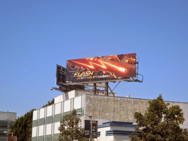 The Flash TV series billboard
