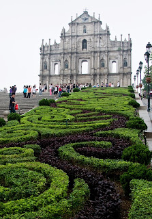 Lovely Travel of a Nomadic Dad Travel the world RTW- Family Travel with kids St. Paul's Cathedral in Macau