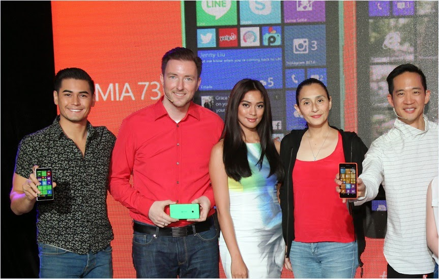 Lumia 535 launch: Fabio Ide, Karel Holub, Ariella Arida, Teresa Loyzafa and Gary Chan