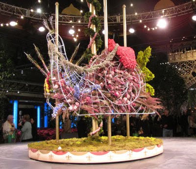 carousel snail made of flowers