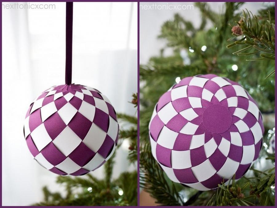 Как сделать шарик на новый год своими