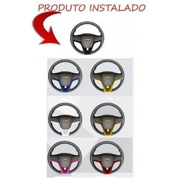 Aplique Moldura Volante Gm Onix Prisma Celta Corsa Montana  - R$ 89,99