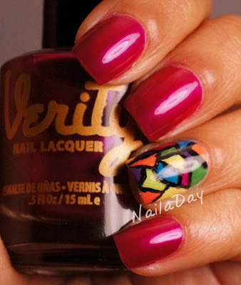 NailaDay: Verity Brilliant Violet Stained Glass Mani
