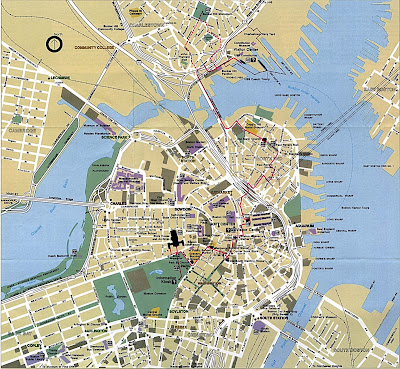 Big detailed Boston map