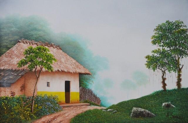 Im genes arte pinturas paisajes colombianos para pintar - Pintar en lienzo para principiantes ...