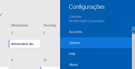 calendário no Windows 8 - 560x285