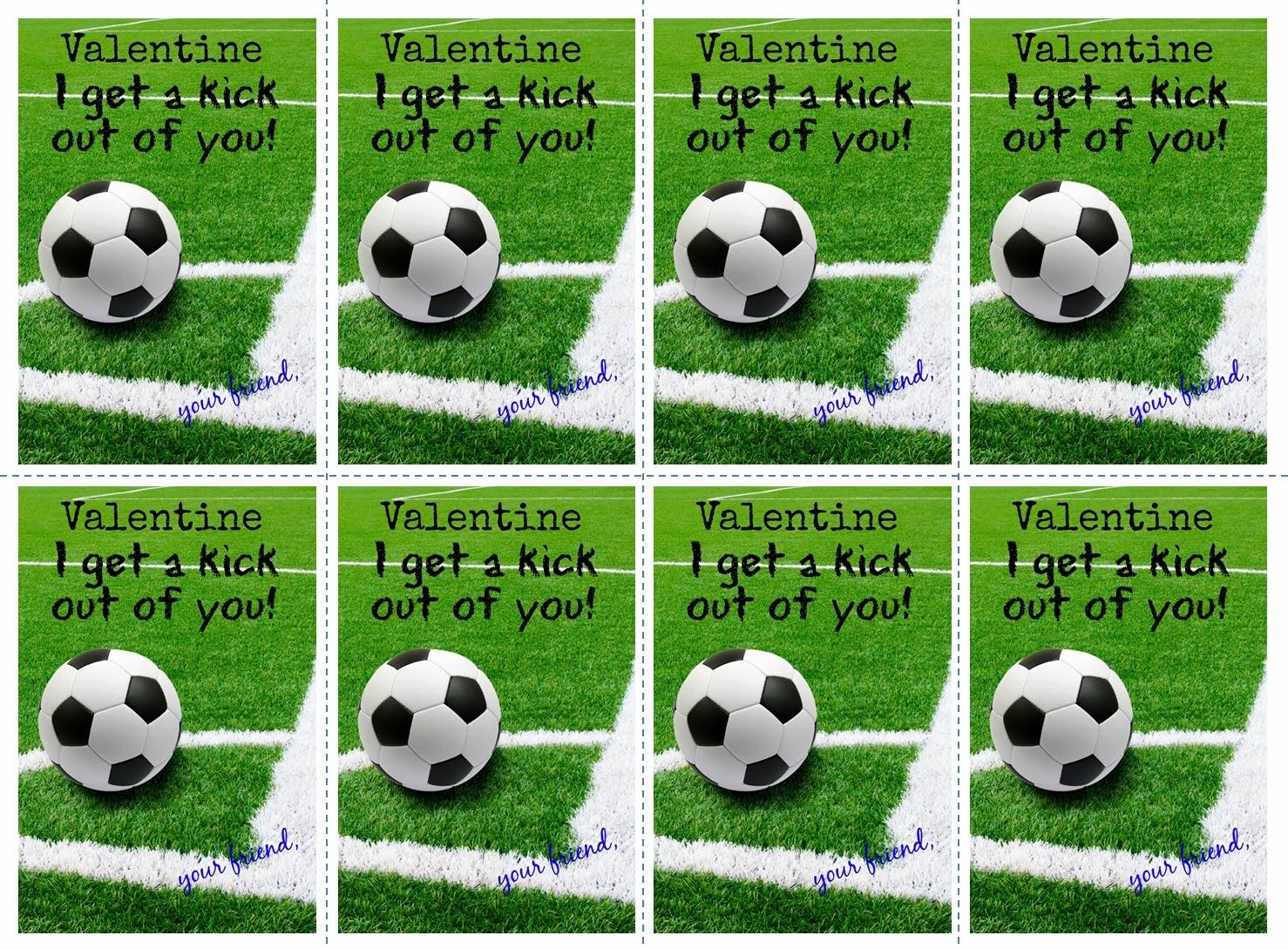 Schön Soccer Valentine Cards