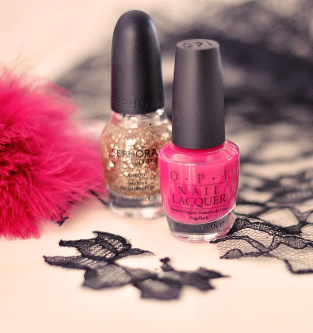 Opi Hot Pink Glitter Nail Polish Opi Nail Polish Glitter Nail