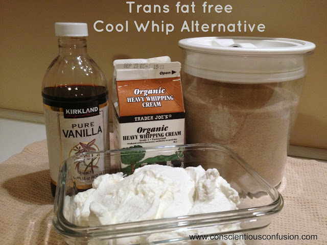 Trans fat free cool whip alternative