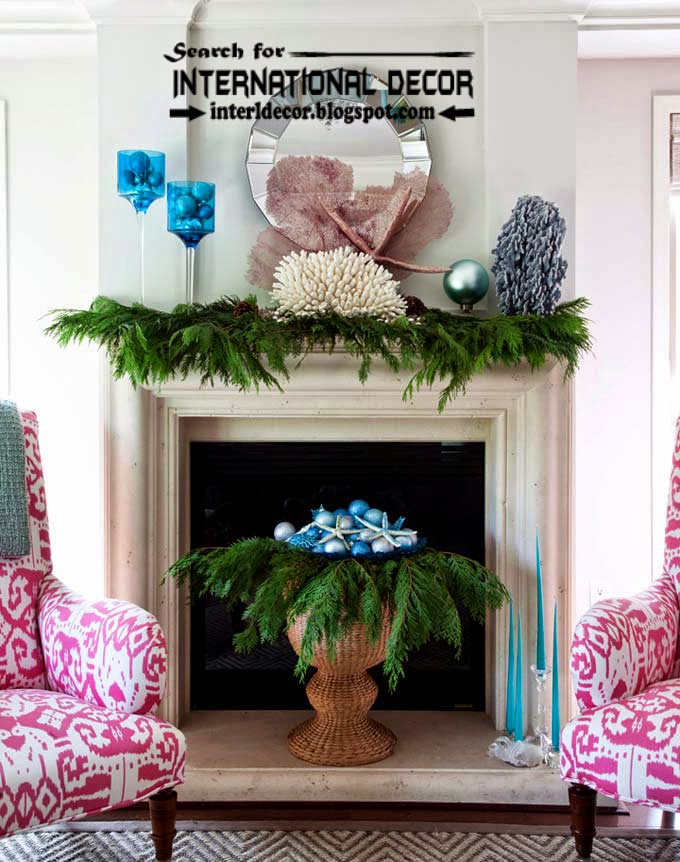 best Christmas decorating ideas for fireplace 2015, Christmas fireplace mantel decor 2015