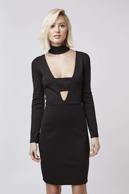 black twin sister dress, bar front black dress,