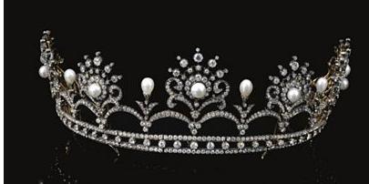 تيجان ملكية  امبراطورية فاخرة Pearl+diamond+tiara