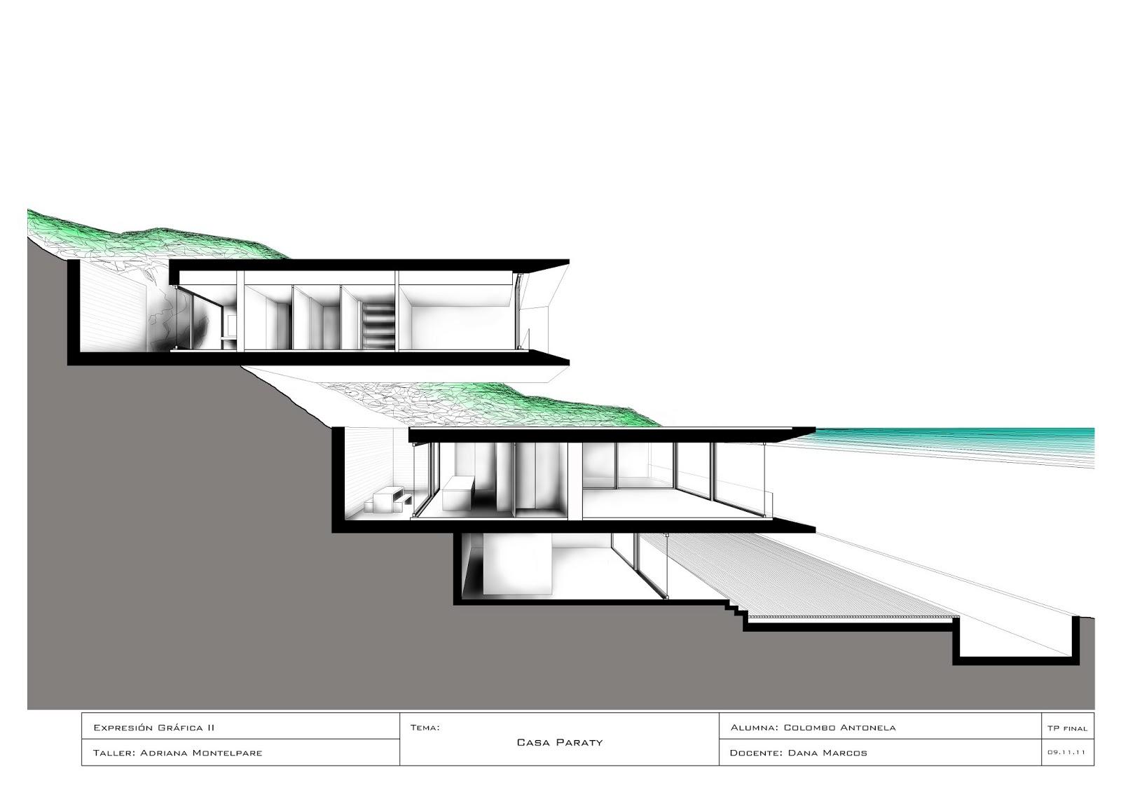 Expresi n gr fica 2 montelpare espacio cortes fugados for Arquitectura nota de corte