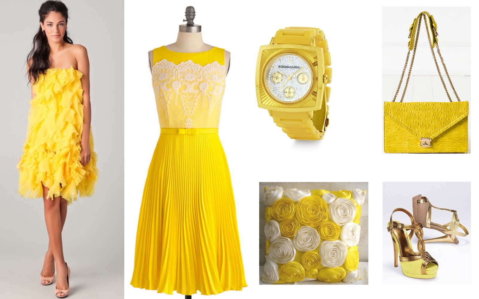Yellow Cocktail Dresses 107