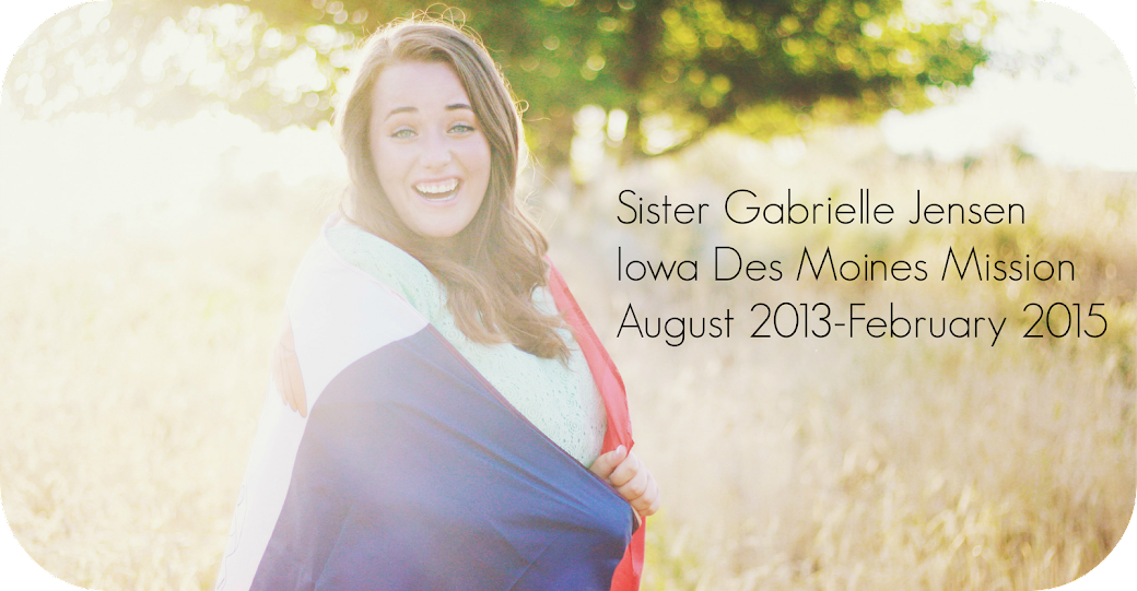 My tales as a Sister Missionary serving in Iowa.