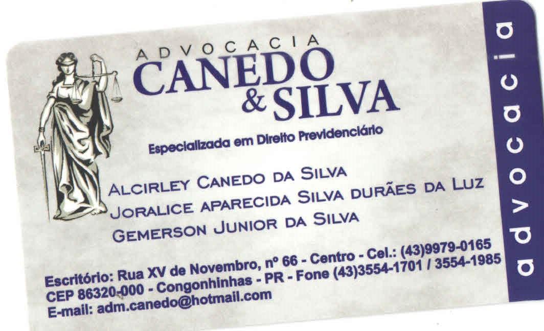 ADVOCACIA CANEDO & SILVA;