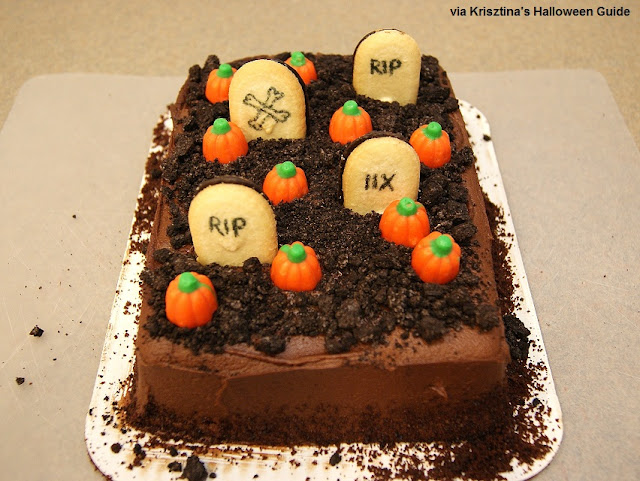 Van till kids cakes ideas 3918 easy graveyard cake hallowe for Easy halloween cakes to make at home