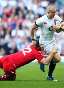 Mike Brown, Dan Biggar, England, rugby, Twickenham, Wales, Six Nations