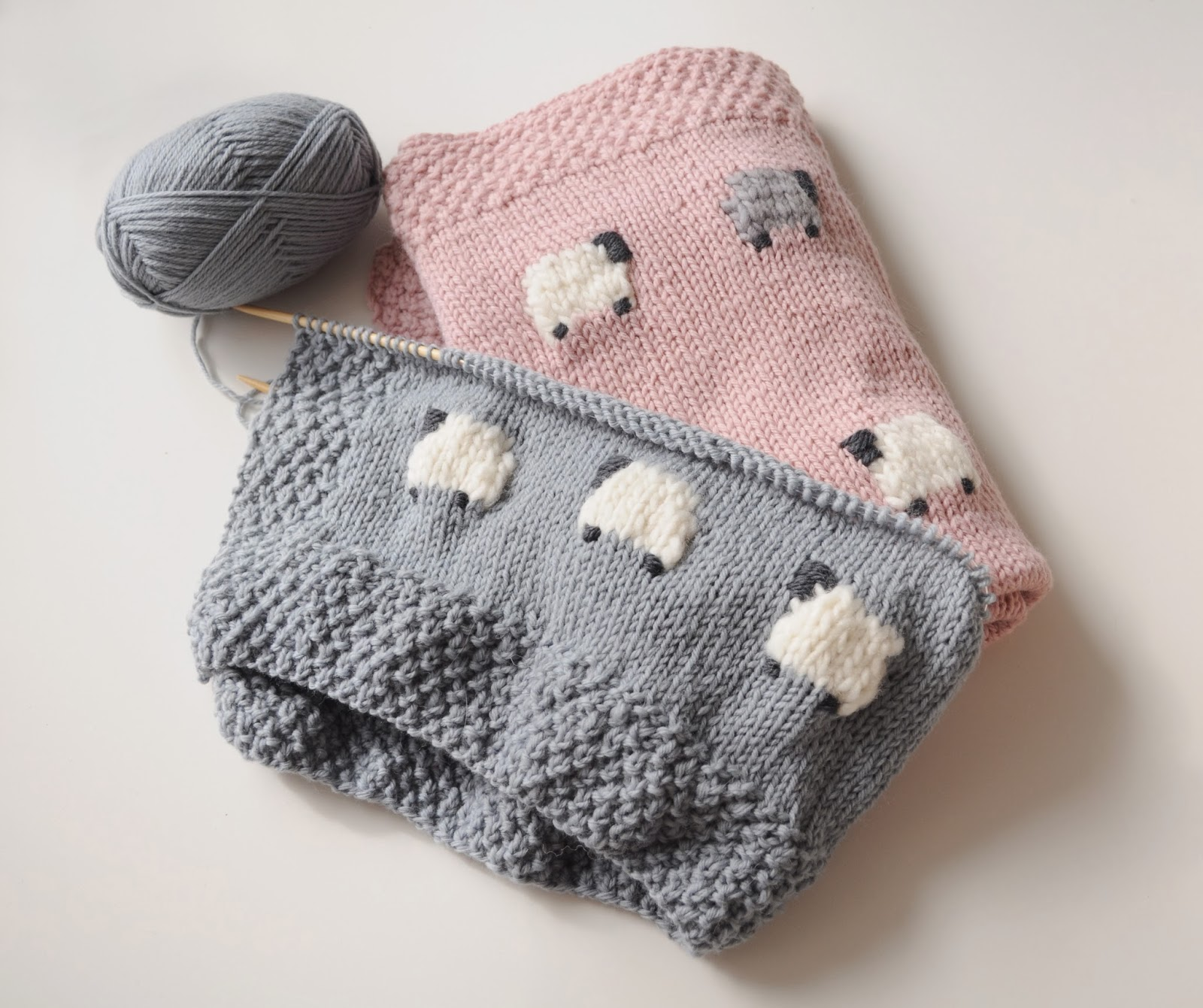 Knitting Blankets For Babies : Fieldguided baa black sheep