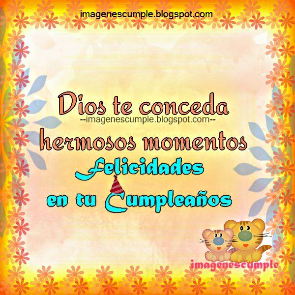 Frases de cumpleaños con bonita imagen y los mejores mensajes por Mery Bracho. Tarjetas postales para amiga, niña, mujer, dama, en su cumple.