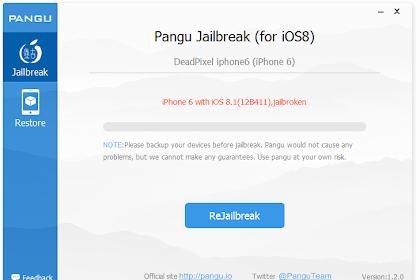 Download Alat Jailbreak Pangu 1.2.0 iOS 8/8.1 Untethered iPhone iPad iPod Touch