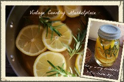DIY William Sonoma Lemon Rosemary Room Scent