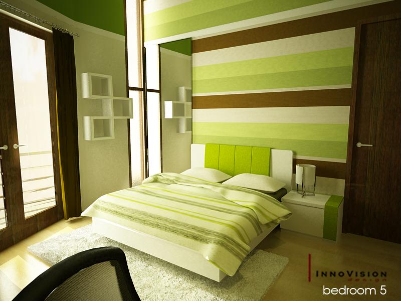 Home decoration design elegant bedroom interior design for Bedroom ideas green