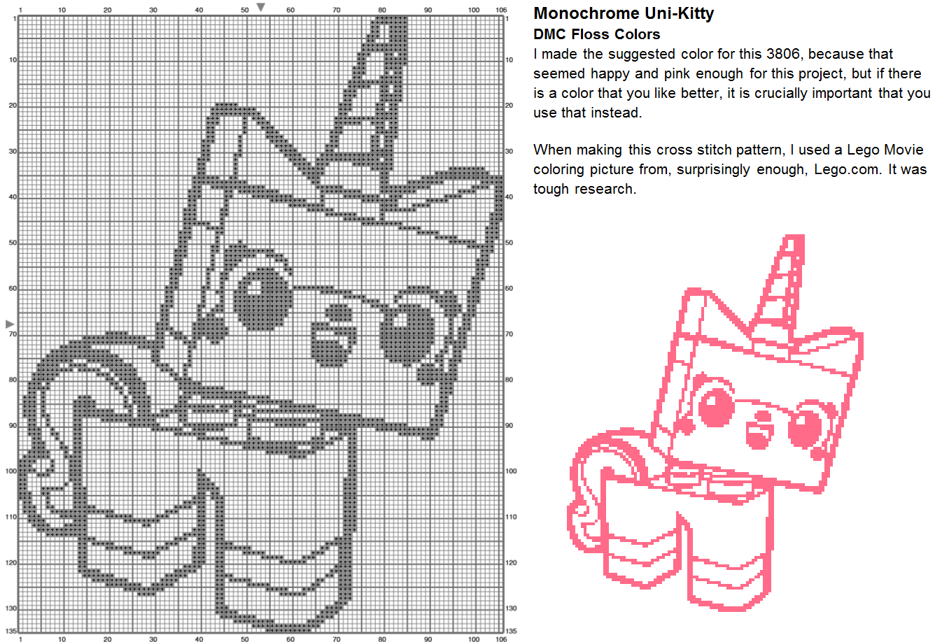 Princess unikitty coloring pages - With That Posted I Have Another Wip Of My Cross Stitch Of Kyubey From Madoka Magica Which Is The Only Cross Stitch That I Ve Been Working