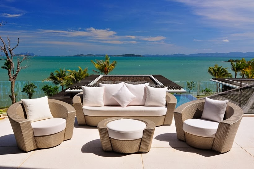 Terrace view in Contemporary villa in Phuket, Thailand