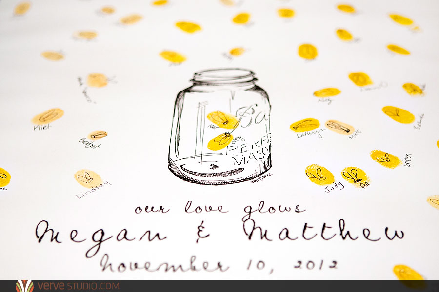 Wedding Talk: Mason Jar Fingerprint Guest Book