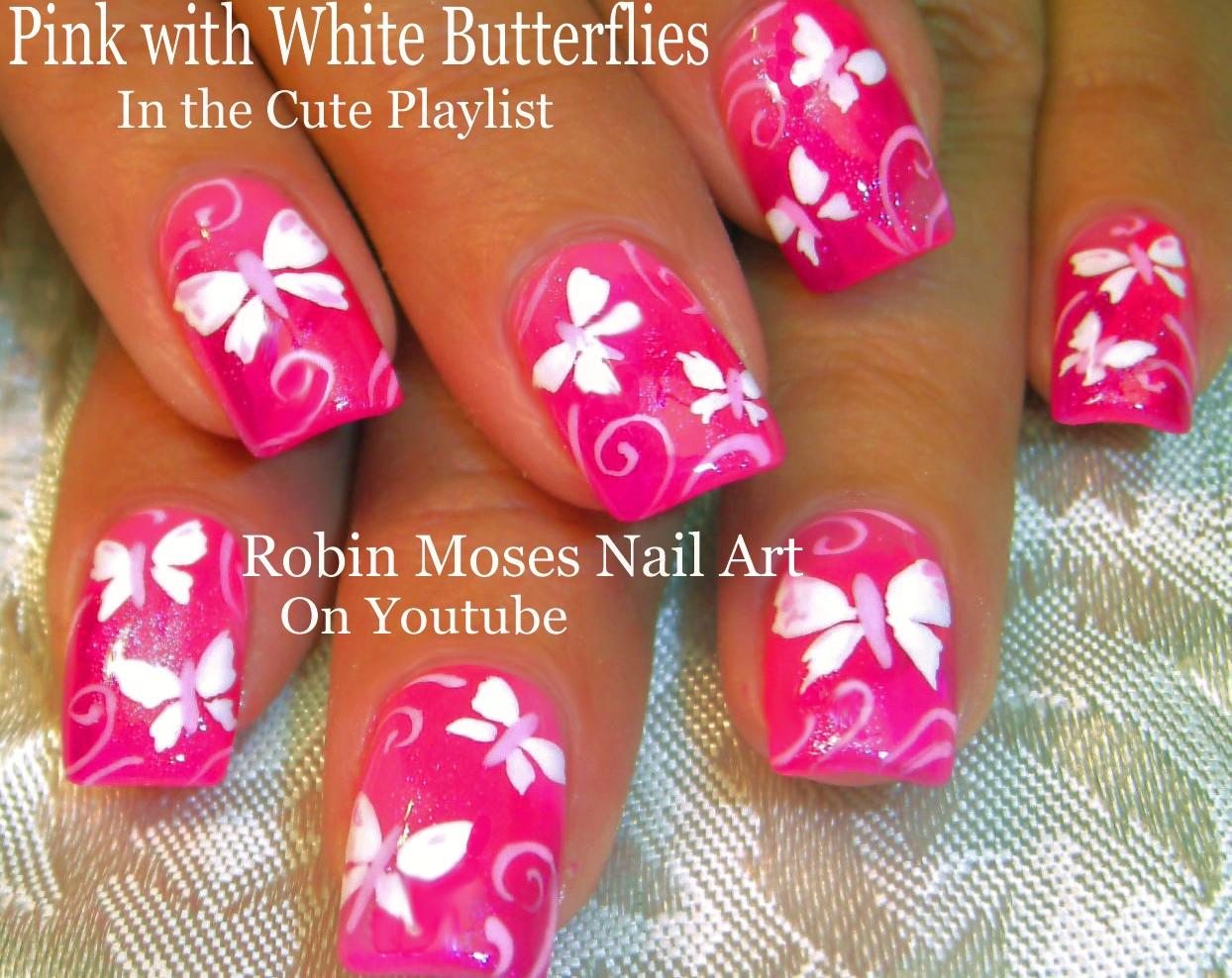 robin moses nail art easy neon pink summer nails up and