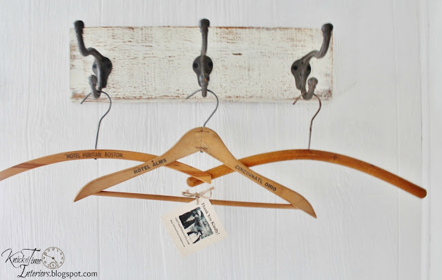 Antique Wooden Clothes Hangers Laundry Room Remodel via http://knickoftimeinteriors.blogspot.com/