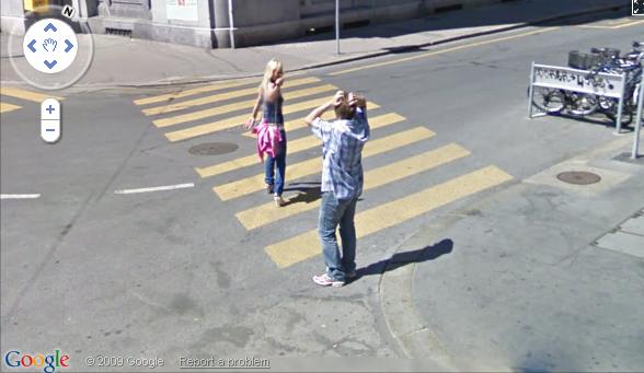 levando um fora flagra da google street view