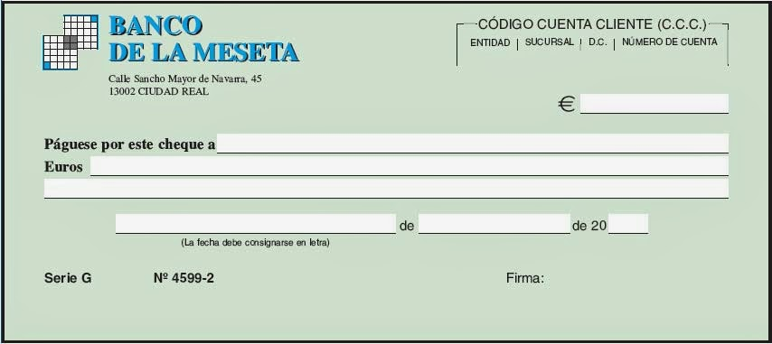 formato para llenar cheques