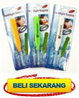 alat korek kuping lampu flashlight earpick murah