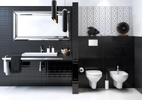 Tamano Baldosas Baño:Por lo general los baños modernos se decoran con paredes cubiertas