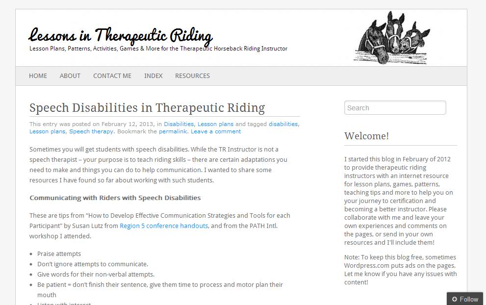 Speech Language Hippotherapy: \