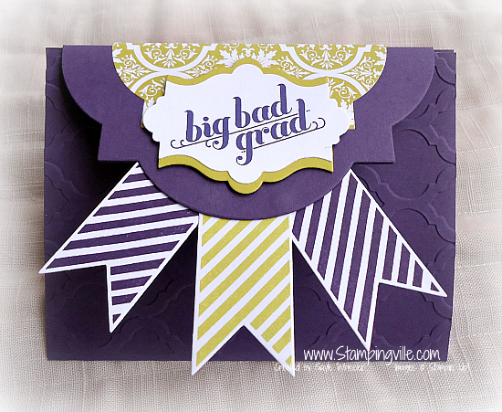 Big Bad Grad Card/Gift Card Holder | Stampingville #graduationcards #giftcardholders #StampinUp #handmadecards