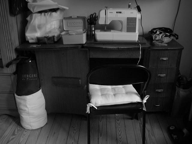 plan de travail meuble de couturière