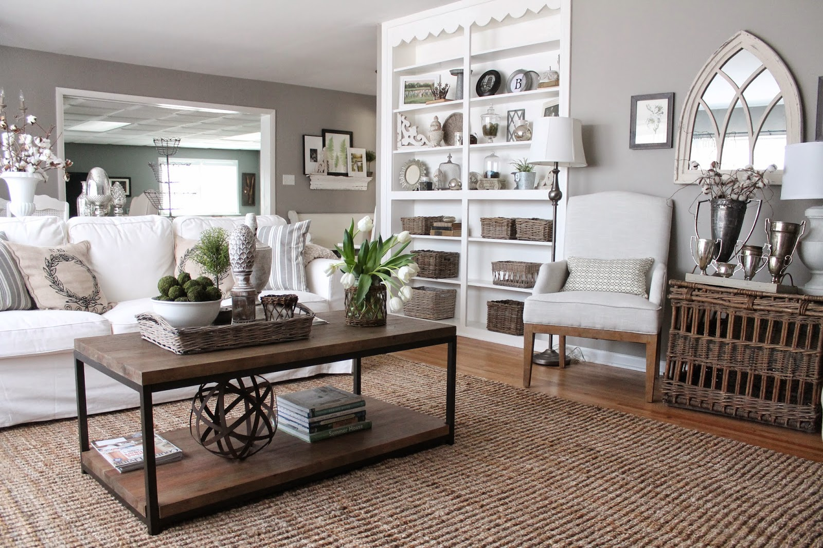in our living room i knew i wanted a griege or french gray so i intentionally chose a gray with a strong taupe undertone silver fox by benjamin moore - Gray Home 2015