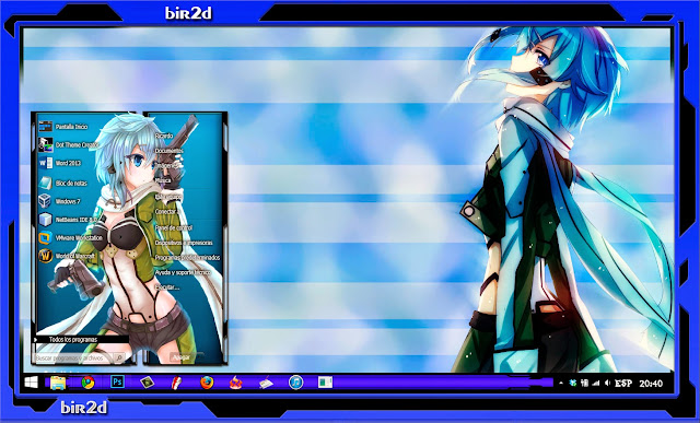 Asada Sinon [ Theme Win 8 ] 1