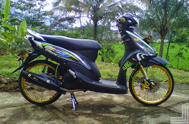 Top modifikasi motor mio j