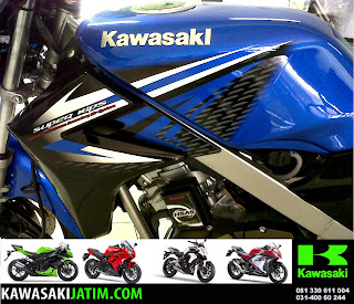 Ninja 150R Biru New Stripping tank