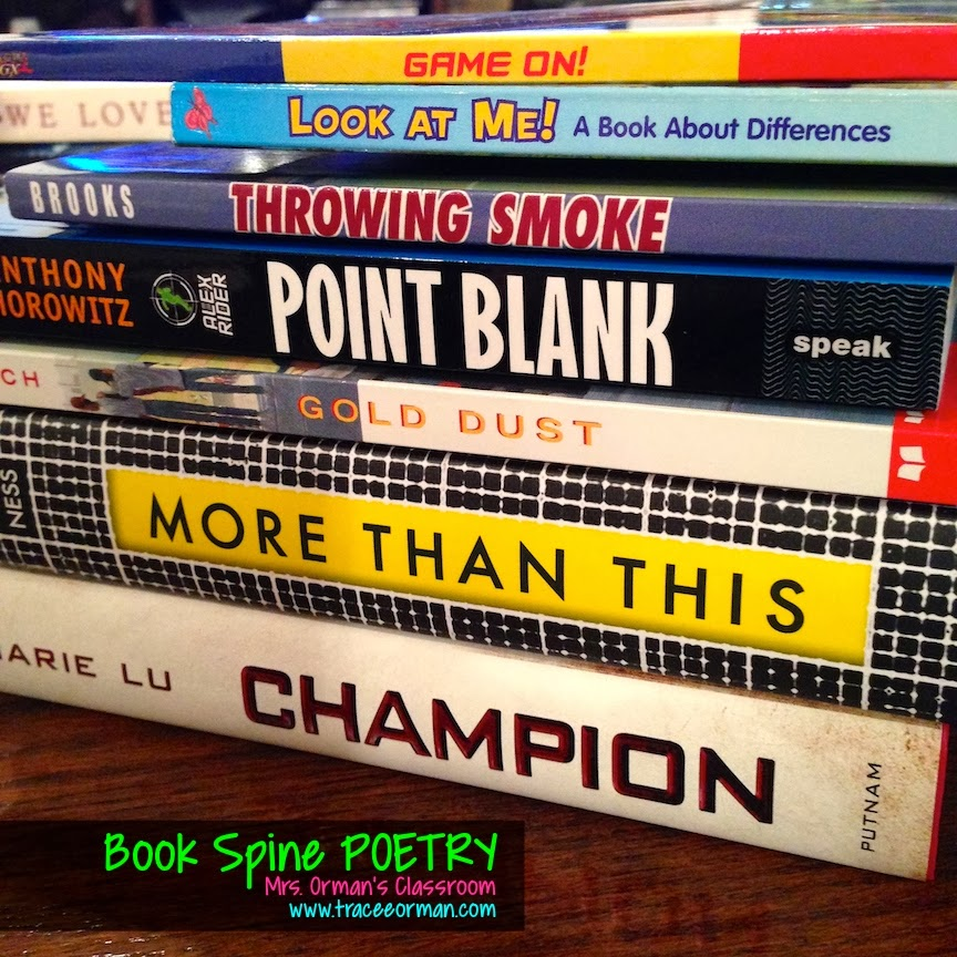 Game on! Have students use book titles to create poems - www.traceeorman.com