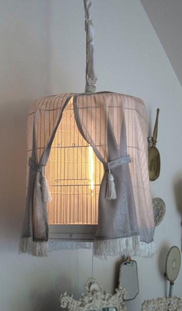 BOISERIE  u0026 C   Lampadario in stile Shabby Chic -> Lampadario Ceramica Fai Da Te