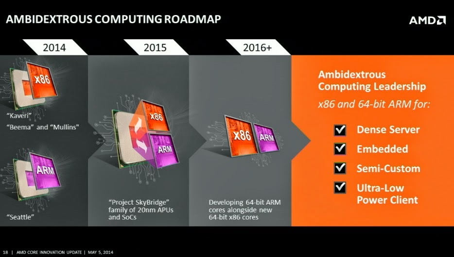 AMD Project Skybridge roadmap
