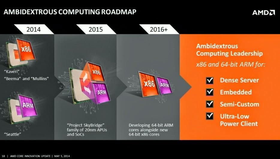 AMD Project Skybridge roadmap