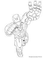 Kumpulan Gambar Mewarnai Iron Man 3
