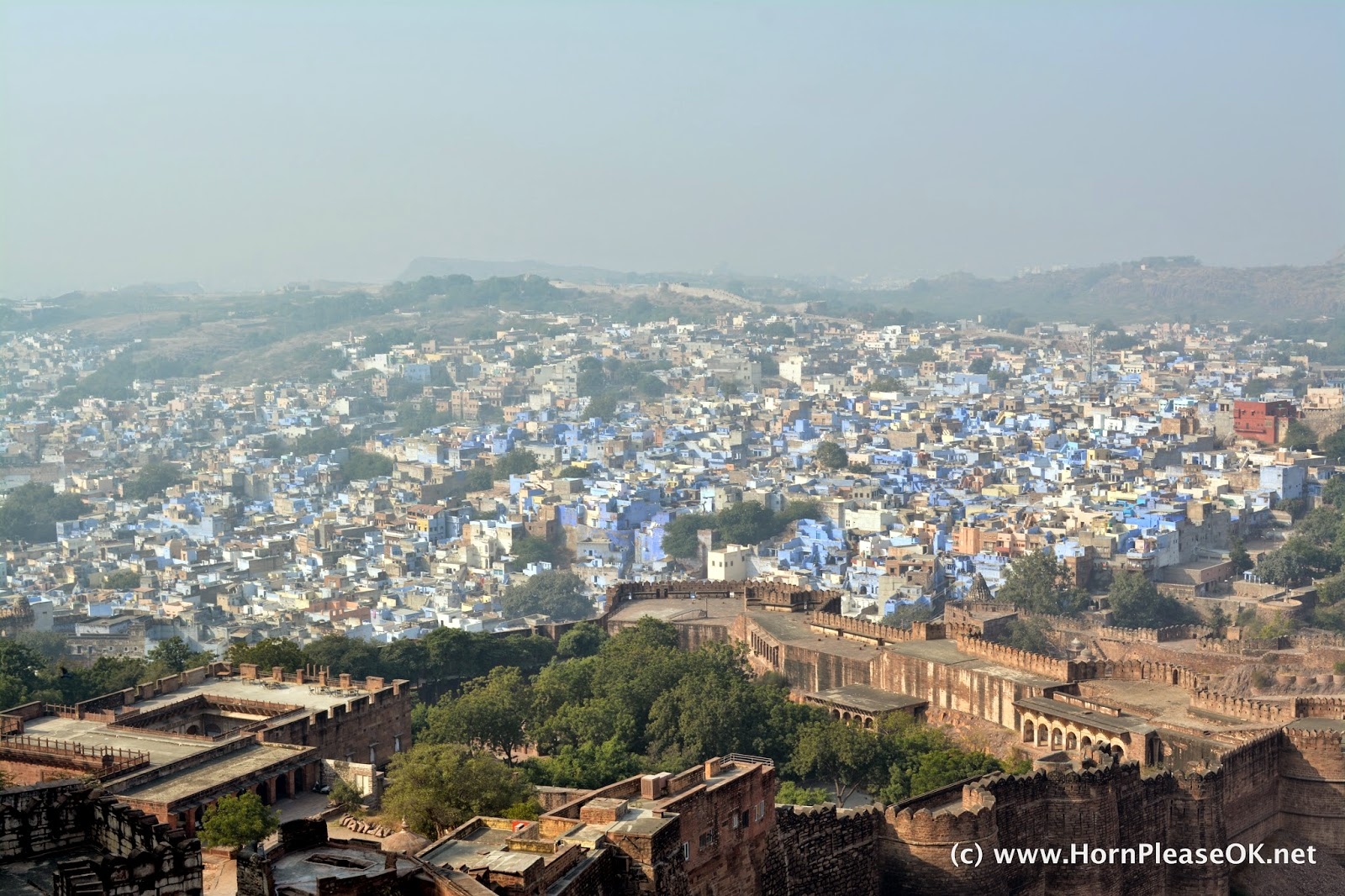 A view of Jodhpur, The Blue City